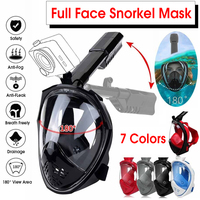 Upgrade Foldable Anti Fog Full Face Diving Scuba Mask 180 degree Broad Viewing With Earplugs Snorkeling Set