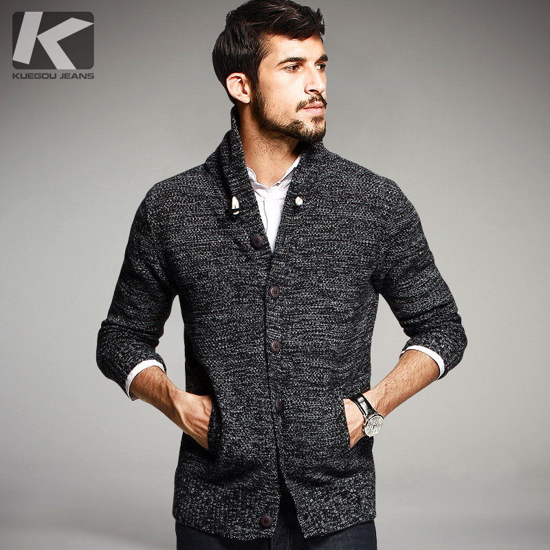 Autumn font b Mens b font Fashion font b Sweaters b font 100 Cotton Knitted Cardigan