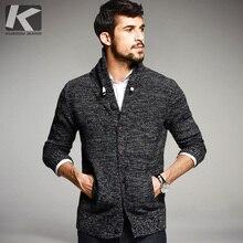 KUEGOU осень мужские Свитеры для женщин 100% хлопок вязаный кардиган Вязание брендовая одежда для человека трикотаж плюс Размеры Sweatercoats 16850