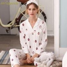 5d7a7aa0e0ef15 Kawaii piżamy damskie z długim rękawem spodnie dwa kawałki komplet piżamy  2019 nowych moda tkanina modalna