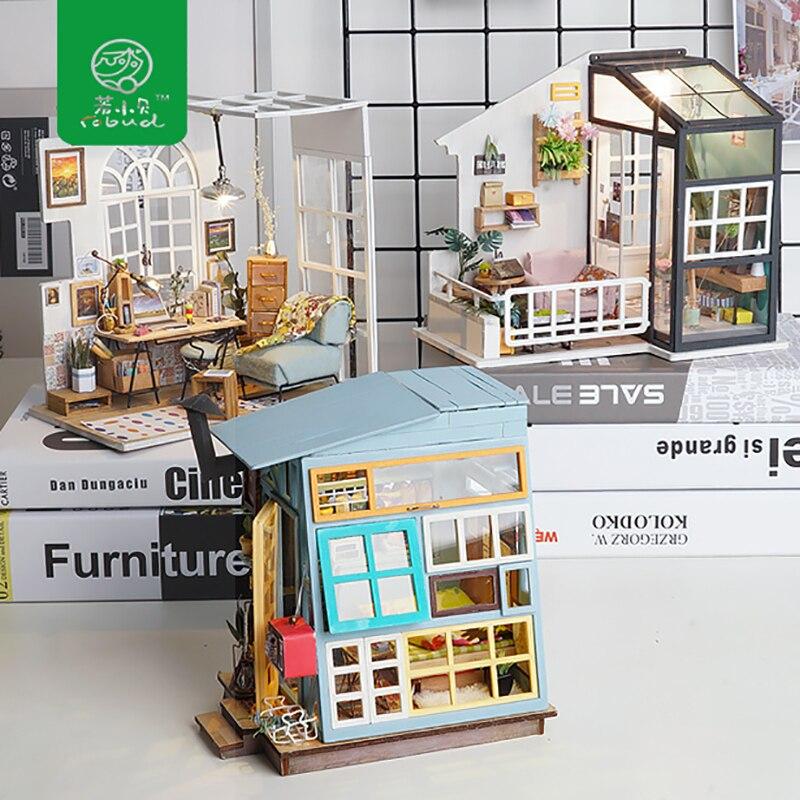 Robud DIY Миниатюрный Дом Кукольный дом наборы деревянный кукольный домик с мебели игрушки для детей изысканные ремесла подарок для девочки
