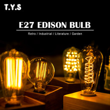 Ampul Incandescent Edison Light Bulb E27 40W 220V Vintage Retro Lamp Lighting Industrial Home Decor Bombilla Decoracion Lampada(China)
