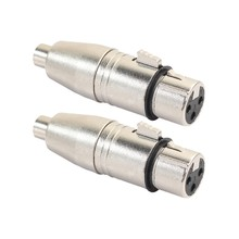 2 Stks/partij Xlr Female Naar Rca Female Audio Adapter Connector Voor Microfoon Luidspreker(China)