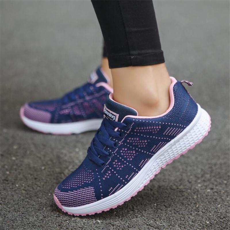QIAOJINGREN/женская повседневная обувь; дышащие кроссовки; Новинка года; Модные женские кроссовки из сетчатого материала; Размеры 35-44 - Цвет: Purple Mesh