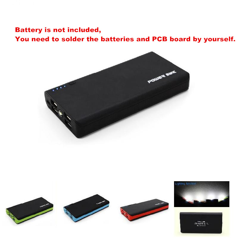 Universal 2.1A 4USB Power Bank Case 6x18650 Battery Charger Charging Power Supply Housing Cover DIY without Battery GDeals