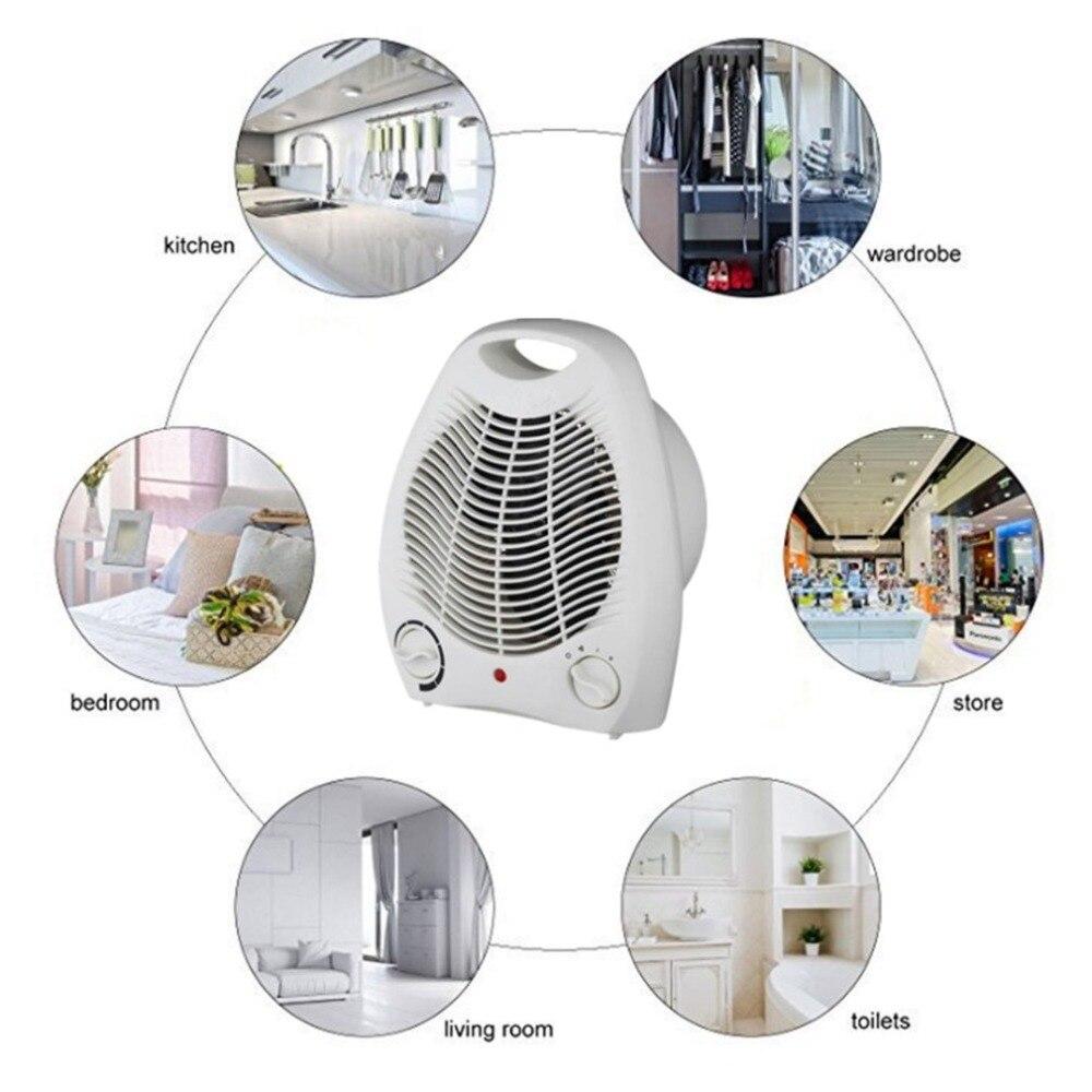 Portable Fan Heater Adjustable Thermostat Floor Table Desk Heater 9W  Heater 9 Heat Settings Fan Heater