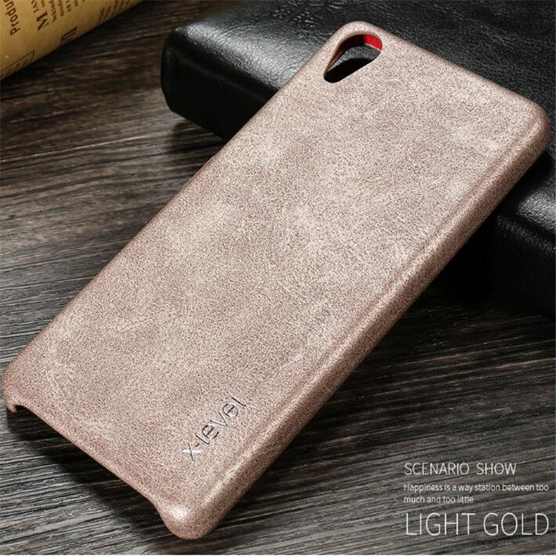 X-Level Case For Sony Xperia X Performance Case Luxury Retro Vintage Flexible Solt Leather Full Fitted Back Cover Coque Fundas