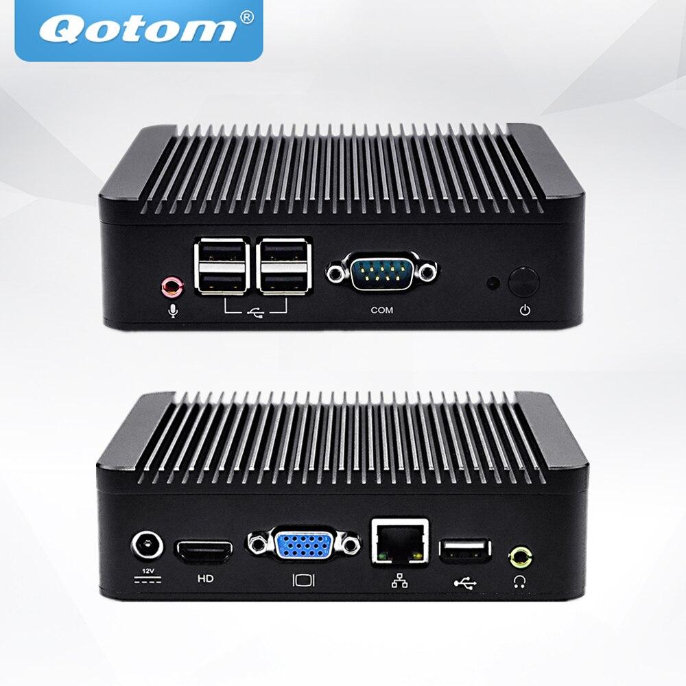 QOTOM Mini PC Q220N with Core i5-3317U Processor, up to 2.6 GHz, X86 Mini PC I5 core i5 industrial pc 6 com 2 lan qotom q350p core i5 4200u processor 3m cache up to 2 60 ghz x86 fanless computer