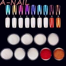 1g  Mirror Nail Glitter Pigment Powder Gold Blue Purple Dust Manicure Nail Art Glitter Chrome Powder Decorations