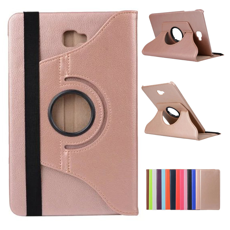 For Samsung Galaxy Tab A 10.1 Case CoverSM-T580 SM-T585 360 Rotating Stand pu Leather Case for Samsung Tab A 10.1 Funda Capa