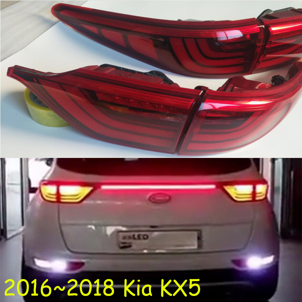 1pcs Bumper Tail Lamp For KIA KX5 Taillight 2016~2019y Car Accessories,tail Light For Kia KX5 Rrear Light Fog