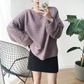 Nuevas Mujeres Suéteres Y Pullovers Harajuku Ropa de Otoño Invierno de Corea del Suéter Retro de La Raya de Kawaii Lindo Suéter de Punto de Las Mujeres