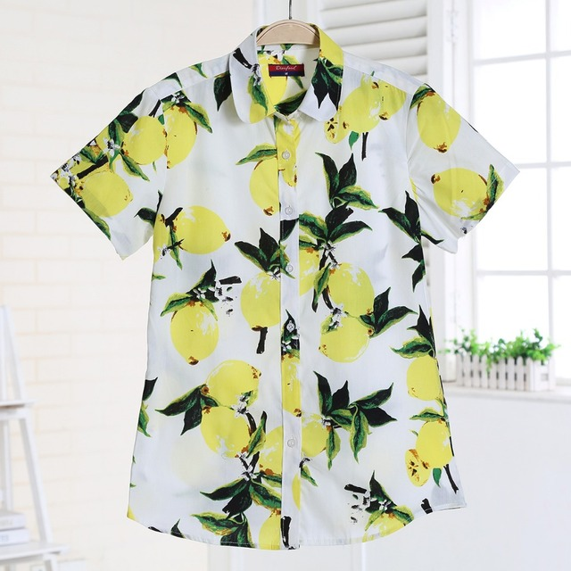 Summer Short Sleeve Floral Blouses – Plus Sizes