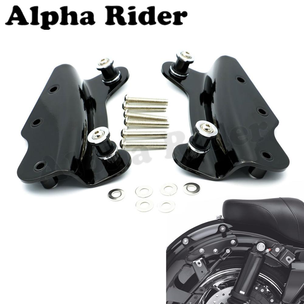 Black / Chrome 4-Point Docking Hardware Kit for Harley Touring Road King Electra Street Glide Custom FLTR FLHT FLHR FLHX 09-13 motorcycle chrome luggage rack for harley touring road king street glide cvo road glide street electra glide flhr 2009 2017 16