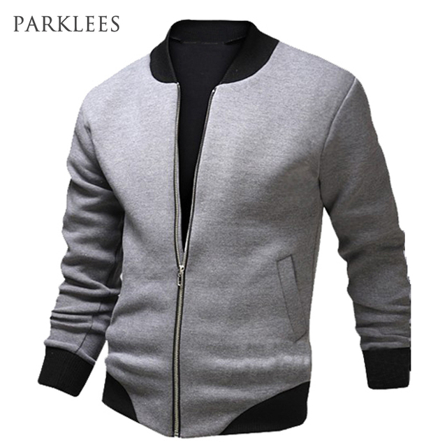 Aliexpress.com : Buy New Gray Bomber Jacket Men 2016 Fashion ...