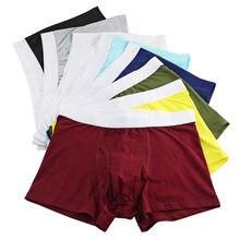 f883b9922 Mens Underwear Cotton Big Short Breathable Solid Flexible Underwear  Knickers Boxer Shorts Bulge Pouch Underpants(