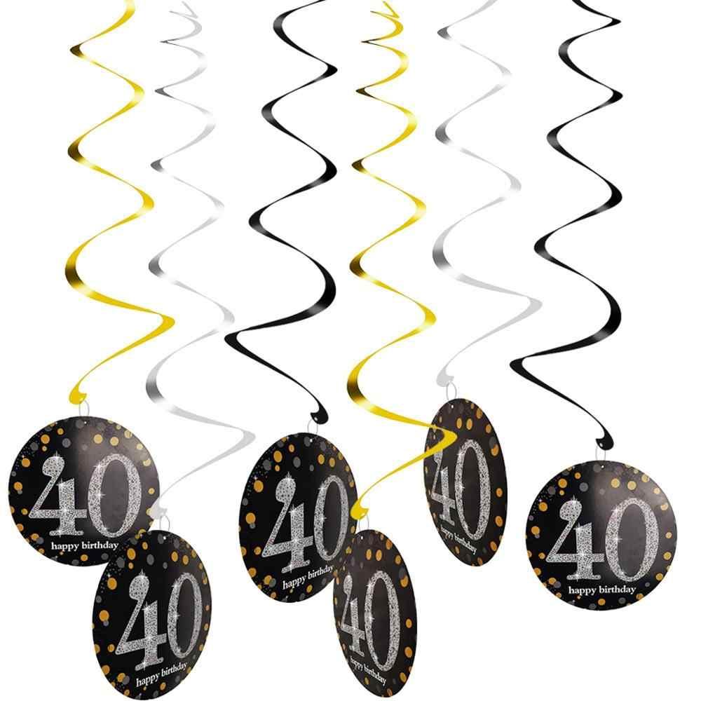 Huiran 15 pçs 10 pçs balão de aniversário 30 40 50 festa de aniversário decoração 30th 40th 50th aniversário decoração aniversário aniversário