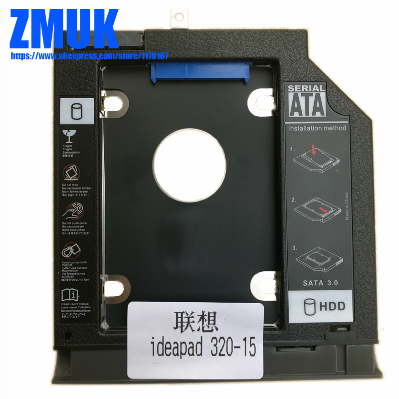 New SSD HDD Adapter Caddy W/ Faceplate For Lenovo Ideapad 320 320-15 Series