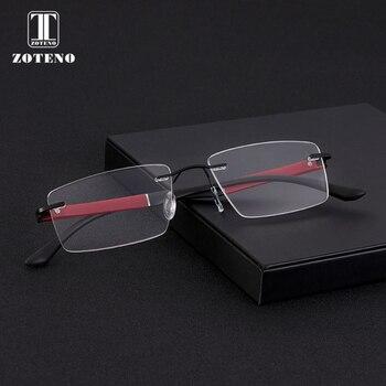 بدون شفة الرجال النظارات الإطار أزياء العلامة التجارية مصمم قصر النظر الكمبيوتر واضحة البصرية وصفة طبية نظارات إطار شفاف #88012