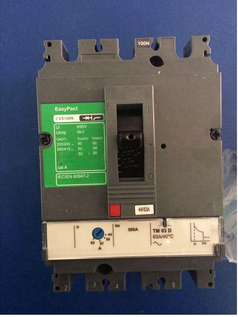 Thermal magnetic Plastic case Distribution protection circuit breaker CVS100FTM100D 3P3D Stationary Front connection 400 amp 3 pole cm1 type moulded case type circuit breaker mccb