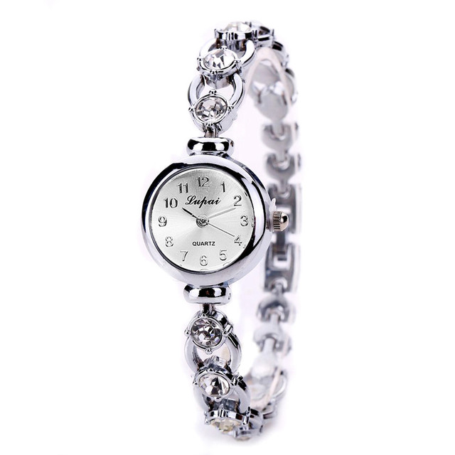 Hot Sales Rose Gold Pearl Bracelet Watch Women Ladies Elegant Crystal Dress Quar
