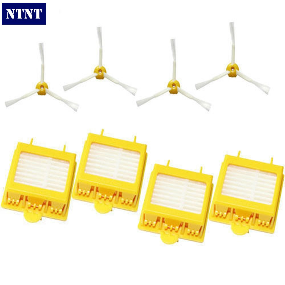 NTNT Free Post New Hepa Filters + Brush 3 Armed for iRobot Roomba 700 Series 760 770 780 Vacuum ntnt free post new 50x side brush 3 armed for irobot roomba 500 600 700 series 550 560 630 650 760