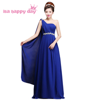 Royal blue długa żółty plus rozmiar suknie wieczorowe szyfonu maksia suknia suknie plus size formalne sukienki na wesele W1999