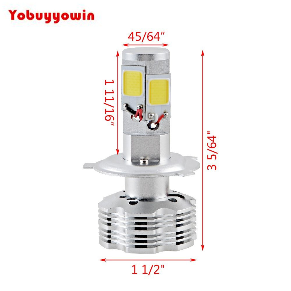 New! Car 12000lm 120W/Set High Power White COB LED Hi/Lo Beam IP68 H4 HB2 9003 Headlamp Bulb(H7 H8 H11 9005 9006 H16 9007)