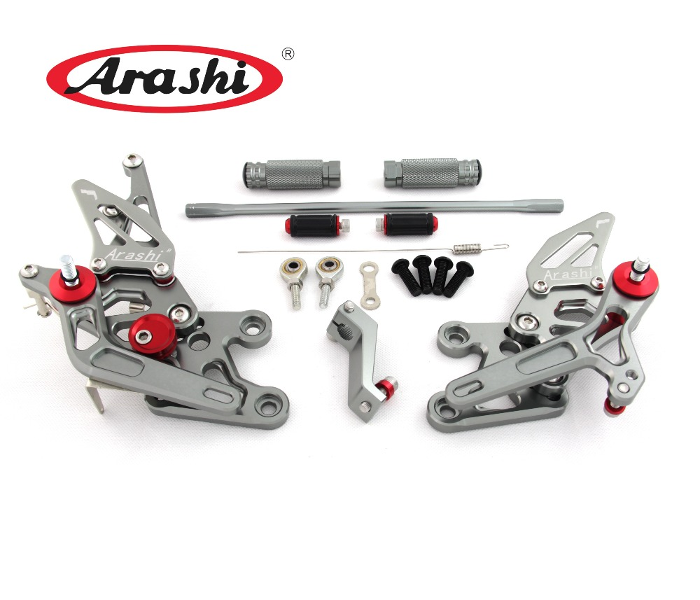 Arashi Réglable Repose-pieds Repose-pieds Pour YAMAHA FZ8 NON ABS 2010-2013 Rider Rearset FZ 8 2011 2012 FZ1 2006-2016