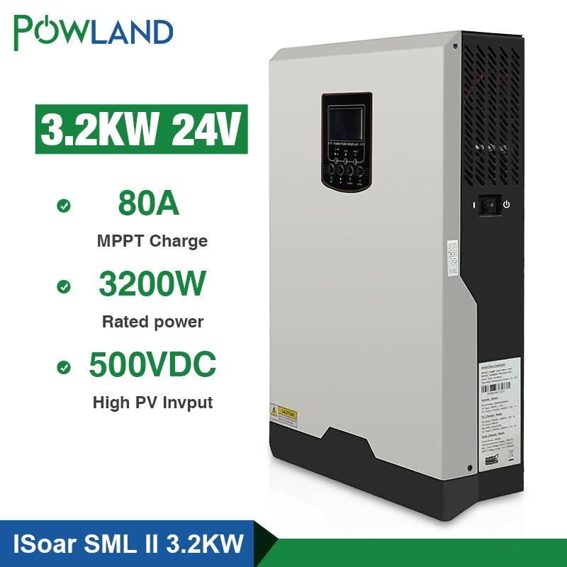 500Vdc Solar Inverter 3200W 24V 220V 80A MPPT 4000W PV Pure Sine Wave Inverter 3Kva 50Hz