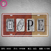 HOPE Tin Sign Club Wall sticker Metal Car License IRON License Plates Antique Metal Tin Painting Tin Signs Pub DECOR