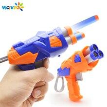 Viciviya Kinder Spielzeug Weiche EVA Kugel Spielzeug Pistole für Nerf N Strike Kugel Darts Runde Kopf Blasters EP Kinder pädagogisches Spielzeug Pistolen