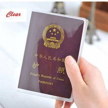 PVC paszport okładka przezroczysty paszport okładka przypadku jasne wodoodporny dokument podróży torba paszport posiadacz Drop wysyłka tanie tanio Akcesoria podróżne 0 cali w Z ISKYBOB Stałe Pokrowce na paszport