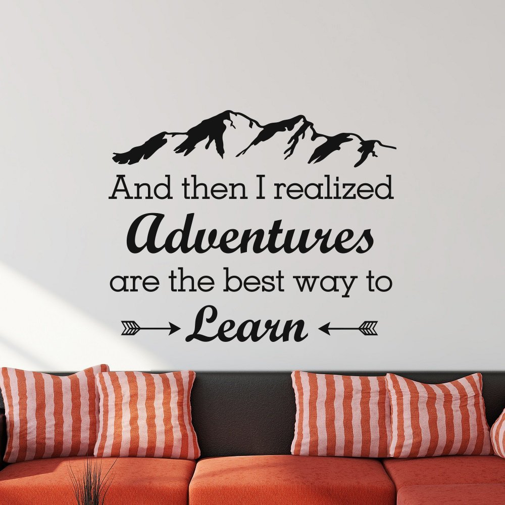 And Then I Realized Adventures Are The Best Way To Learn Wall Sticker Vinyl Home Decor Room Decor M198 image