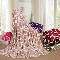 Fashion Life Comfortable Soft Camel Stripes Printing Blanket Bed Cover Large Size 200x230 Cm Machine Wash Breathable