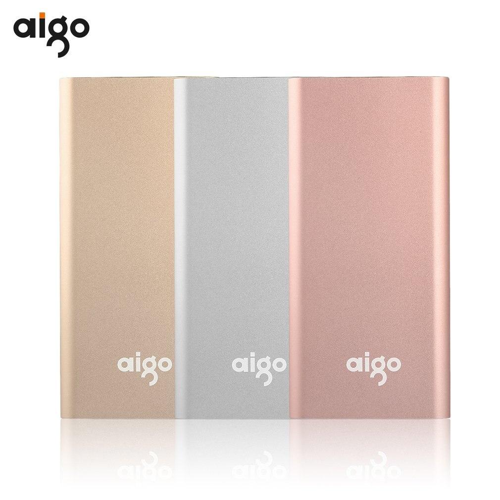 Цена за Aigo 8BK-686 10000 мАч Портативный Baterías portátiles Dual USB мобильный телефон Зарядное устройство резервного копирования Комплекты внешних аккумуляторов для телефонов Tablette PC