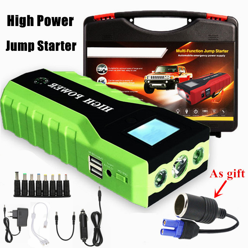 Multi Function 89800mAh Car Jump Starter 600A Emergency Starting Device 12V Car Charger For Car Battery
