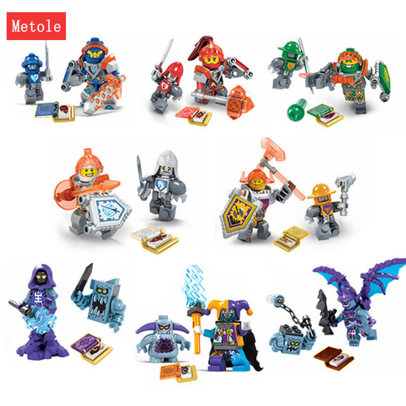 8Pcs/lot Nexus Knights Toys Building Blocks Figures Toys Bricks Marvel Building Blocks Bricks Toys for Children Gift 12pcs set children kids toys gift mini figures toys little pet animal cat dog lps action figures