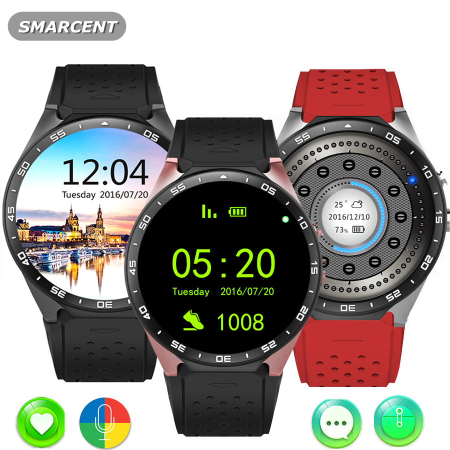 Smarcent Kw88 android 5.1 OS Smart watch 1.39 inch screen mtk6580 Smart GPS phone support bluetooth 3G wifi nano SIM WCDMA potino gw11 3g watch bluetooth 1 3 inch ultra thin screen smart watch phone support nano sim card wifi gps map pedometer
