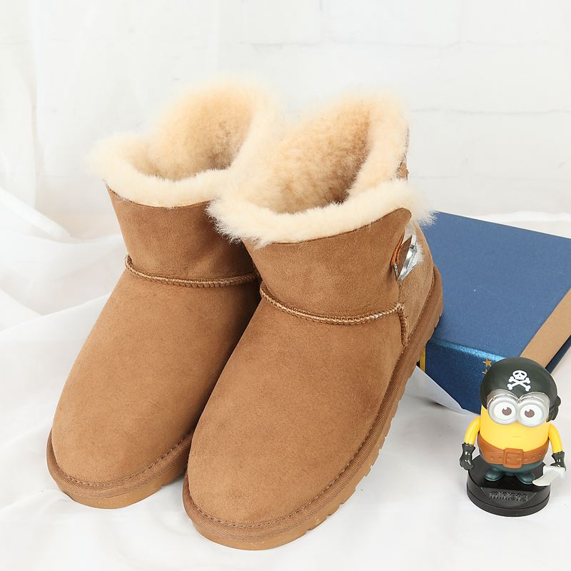 Free delivery 2017 high quality 100% Australian sheep fur one snow boots fashion casual warm women boots special replacement middle plate frame set for iphone 4 8 piece pack
