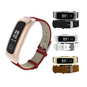 Image 3 - Mijobs voor Honor Band 4 Running Riem Echt Lederen Polsband voor Huawei Honor Band 4 Running Armband Strap Smart horlogeband