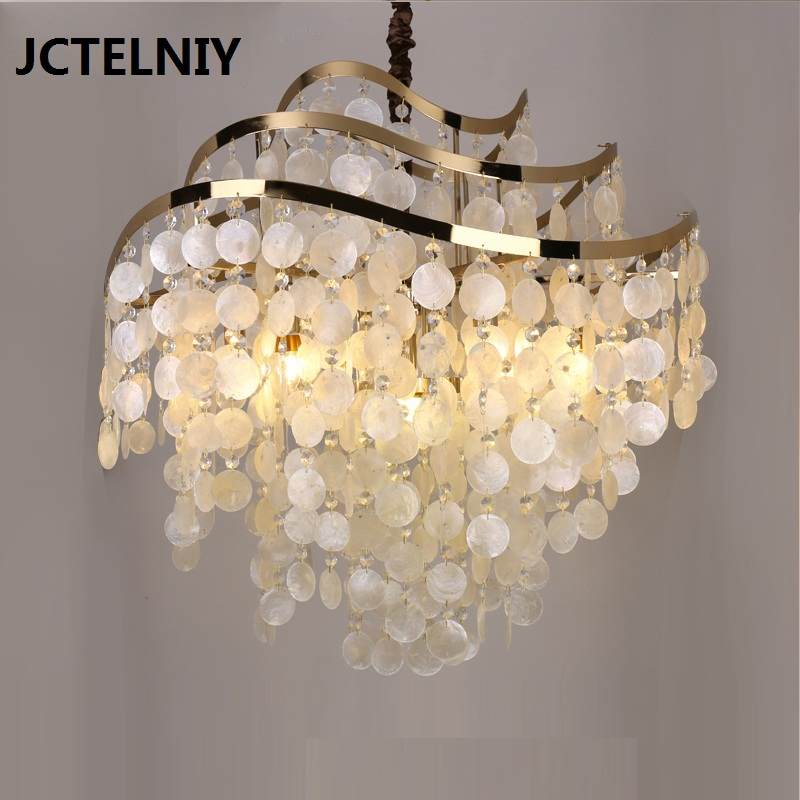 American brief of natural shell lamp bedroom lamp fashion pendant light bar survival of local knowledge about management of natural resources