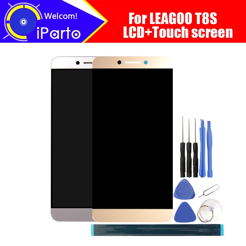 5 5 inch LEAGOO T8S LCD Display Touch Screen Digitizer Assembly 100 Original New LCD Touch