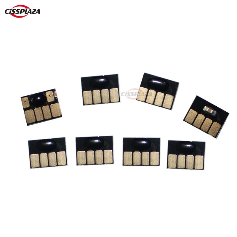 CISSPLAZA 5sets (40pcs) auto reset cartridge chip Permanent chips compatible for HP70 Z2100 Z5200 printer  C9448A C9449A C9451A