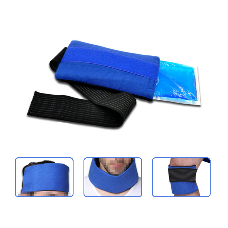 Massage & Relaxation Headgear, Wrist, Elbow, Knee Cloth Cover, Gel Hot and Cold Ice Pack Fit for Eyes and Face Skin