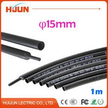1 Meter/lot 2:1 Black 15mm Diameter Heat Shrink Tube Heatshrink Tubing Transparent Sleeving Wrap Wire
