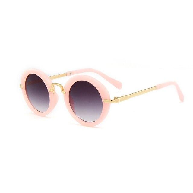 f4e6da61f9 2018 niños gafas de sol para niñas niños gafas clásico de aleación de moda  de bebé