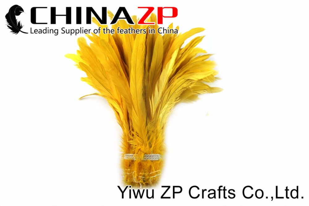 2Yellow Roster tail Feather strung (2)