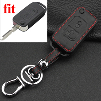 10x2 Buttons Leather Key Cover Case for Mercedes Benz A C E S SLK E113 W FOB Folding Flip Key Case