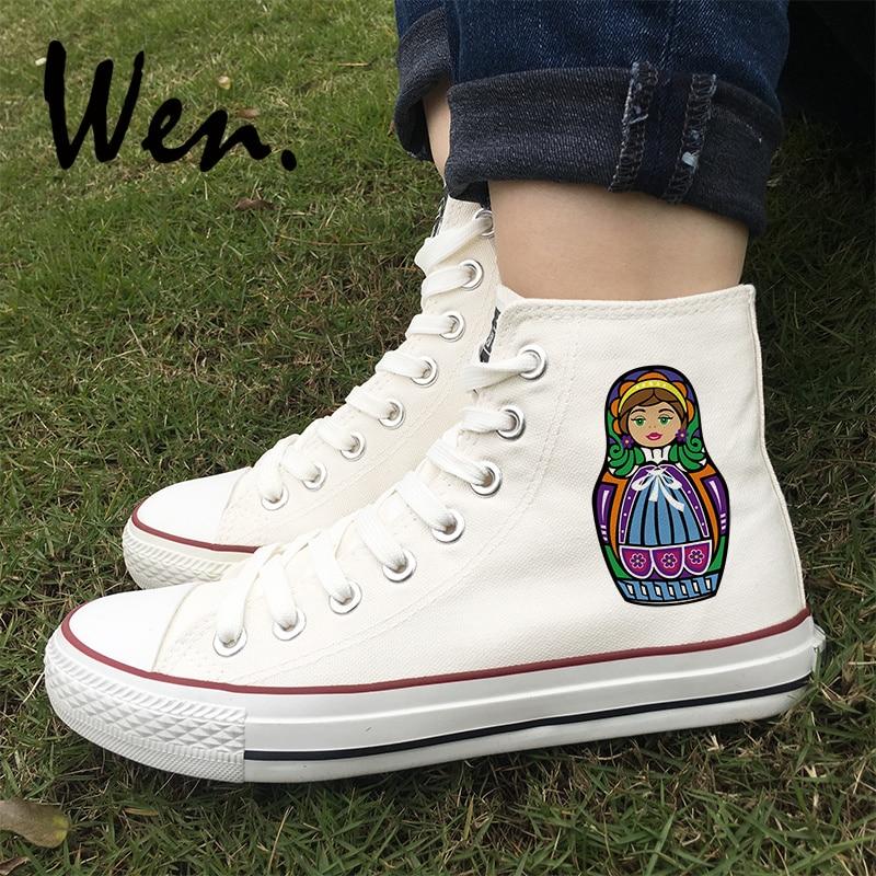 5a97a5179 Наведите курсор, чтобы увеличить. Вэнь обувь для скейтбординга оригинальный дизайн  России красочные Матрешка ...